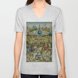 The Garden of Earthly Delights, Surreal, Hieronymus Bosch Unisex V-Neck