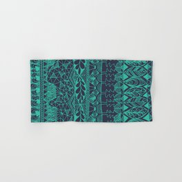 Mountain Tapestry in Midnight Teal Hand & Bath Towel