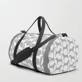Grey and White Beagle Silhouettes Pattern Duffle Bag