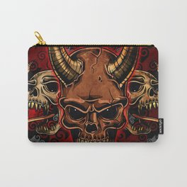 Evil Skulls Carry-All Pouch