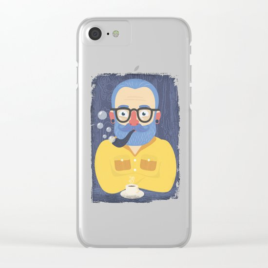 Blue Beard Clear iPhone Case