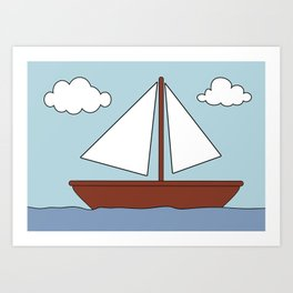 Simpsons Boat Picture Art Print