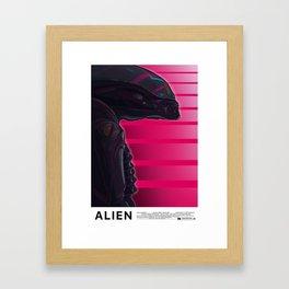 Neon ALIEN Framed Art Print