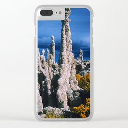 Mono Lake, California: Mysterious Tufa Standing Tall Clear iPhone Case