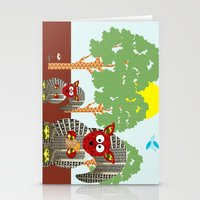 kangaroo Stationery Cards featuring Kangaroo by Design4u Studio