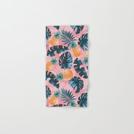 Pineapple and Leaf Pattern Hand & Bath Towel
