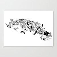cuba Canvas Prints featuring CUBA by gabriel