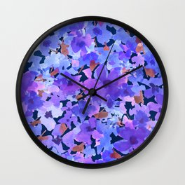 Lavender Blues Wall Clock