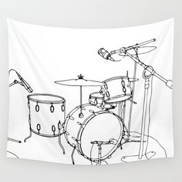Drum Recording Wall Tapestry