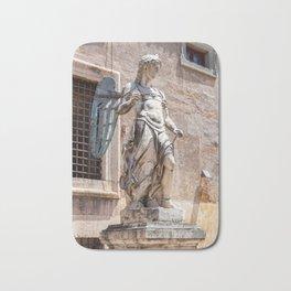 Angel statue inside Castle Sant'Angelo in Rome Bath Mat