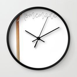 Foodie Puns Homemade Means I Licked the Spoon and Kept Using It Wall Clock