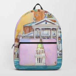 Venice. San Giorgio Maggiore. Andrea Palladio. Architecture. Watercolor Backpack