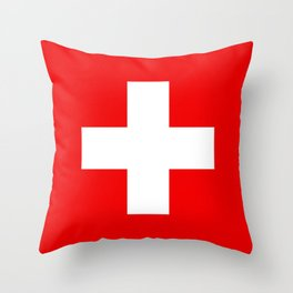 Flag of Switzerland - Authentic (High Quality Image) Throw Pillow