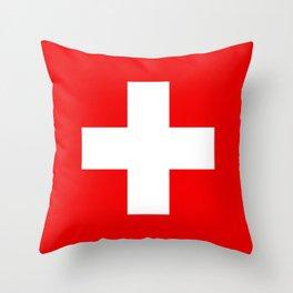 Flag of Switzerland - Swiss Flag Throw Pillow
