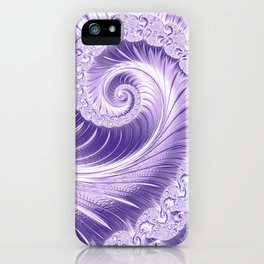 Ultra Violet Luxe Spiral Pattern | Trendy Color of the Year 2018 iPhone Case