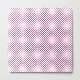 Super Pink Polka Dots Metal Print
