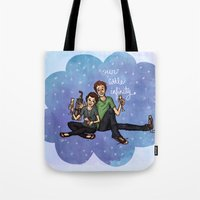 the fault in our stars Tote Bags featuring The Fault in Our Stars by Sarah Hopkins