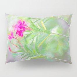 Pink Oleander Flowers Pillow Sham