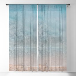 Best Blue - Yellowstone Photography Sheer Curtain