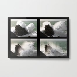 Big wave exploding in Yeu Island Metal Print