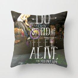 Do Stupid Things - Mountain Goats Throw Pillow