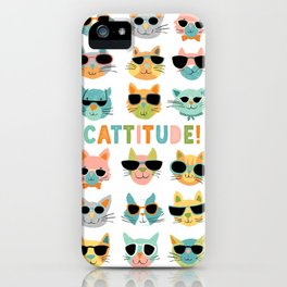 Cattitude iPhone Case
