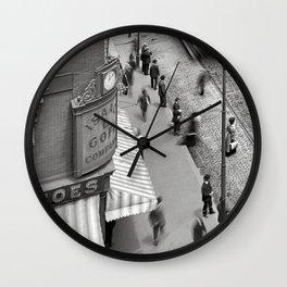 1906 Westminster Street Cityscape Scene, Providence, Rhode Island Wall Clock