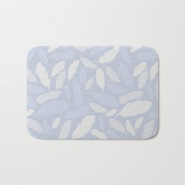 Feather Pattern Light Blue Bath Mat