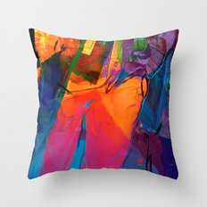 Walking with Sunset  Throw Pillow