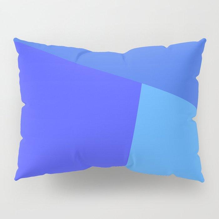 dégradé trapèze bleu roi Pillow Sham