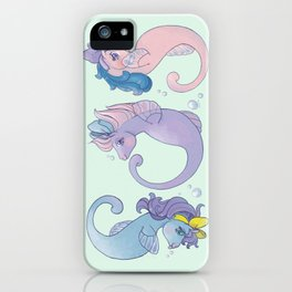G1 Sea Ponies S.O.S iPhone Case