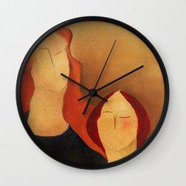 Two women Wall Clock