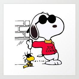 Joe Cool Snoopy Art Print