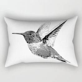 Hummingbird-Flying-Bird-Animal,Nectar-Flower Rectangular Pillow