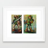 legend of zelda Framed Art Prints featuring Zelda by Matt Tanzi