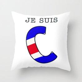 Je Suis Charlie #2  - Navy Alphabet Throw Pillow