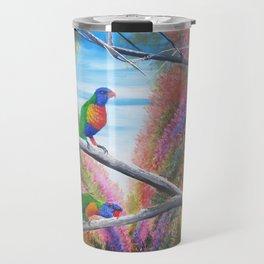 Rainbow Lorikeets  Travel Mug