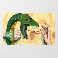 venom Area & Throw Rugs featuring Cobra   Venom by Ron.G