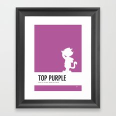 No11 My Minimal Color Code poster Top Cat Framed Art Print
