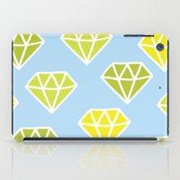 diamonds iPad Cases featuring Diamonds by evannave