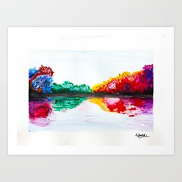 Watercolour Tree Art Print