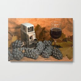Bell and Howell with Black Grapes Metal Print