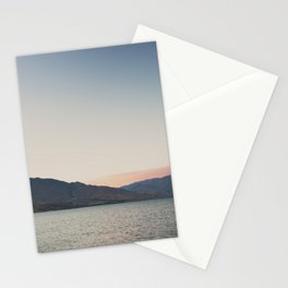 sunset over the lake ... Stationery Cards