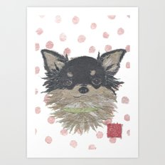 CHIHUAHUA, Long Haired Chihuahua, Dog Art Print