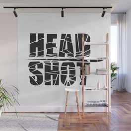 Head Shot Wall Mural