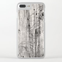 Vine Scars Wood Tree Trunk Pacific Northwest Rainforest Spooky Pattern Clear iPhone Case