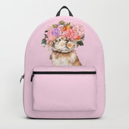 Rabbit with Flowers Crown Backpack