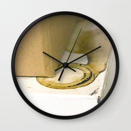 coffee ring Wall Clock