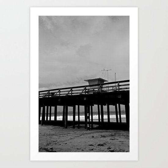 Lifeguard tower Art Print
