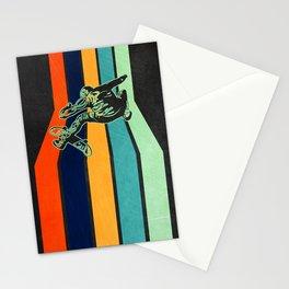 Skateboarder Vintage Retro Stationery Cards